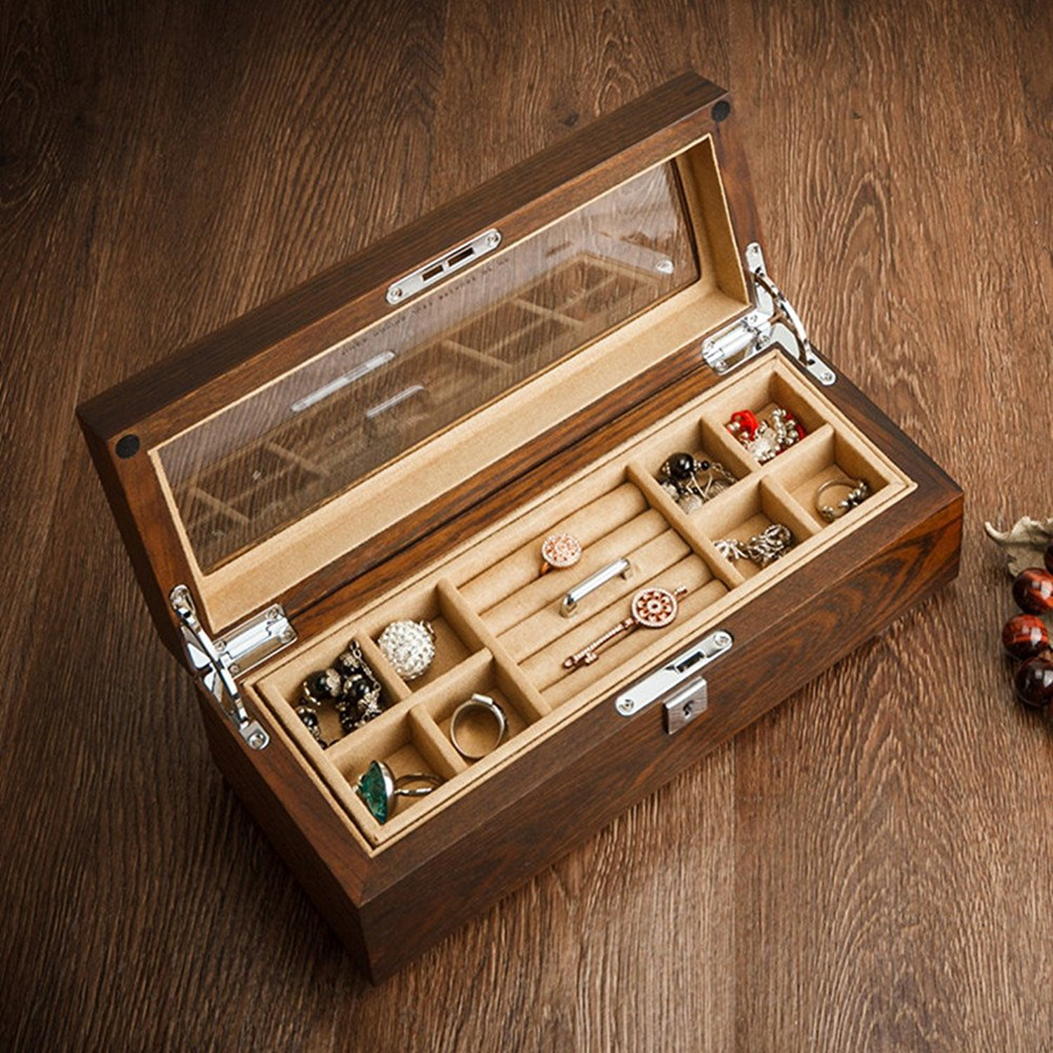 High-grade wooden jewelry box packaging for sale