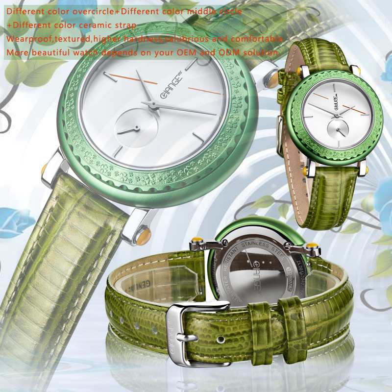 geneva quartz watches with stainless steel japan movt
