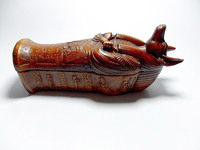 Anubis Coffin with mummy, Ancient Egypt God Anubis Coffin