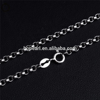 SSN230 Classic Chain Fine Jewelry 925 Sterling Silver 3mm Round Rolo Cable Link Chain Necklace