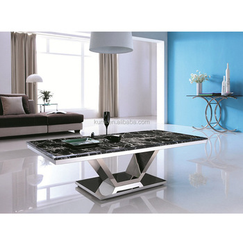 Genial Modern Metal Marble Center Coffee Table
