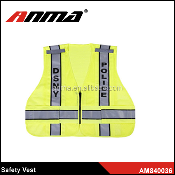 fluorescent vest security protection guardwire safety vest