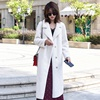 Mewell new classic solid color granule wool coat long section women's winter jackets