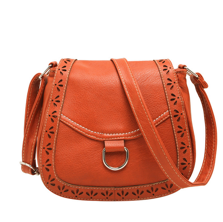 Italy New Vintage Handbags Purse Casual Women Messenger PU Hollow Crossbody Bags Magnetic Buckle Ladies <strong>Shoulder</strong> Bag