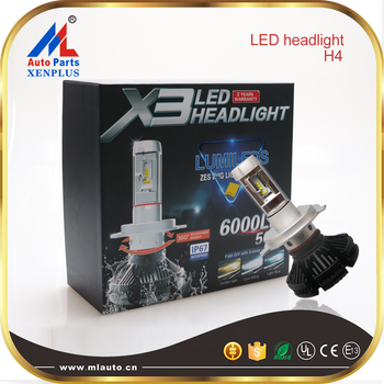 2016 hot sale new product 50w 6000lm high power super bright h4 auto led headlight bulb