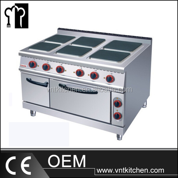 Kitchen Equipment Oven And Electic 6 Hot Plate Ceramic Cookers Gas Range