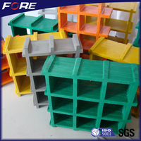 38*38*38mm anti slip gritted top molded High strength Fireproof GRP/FRP plastic grating panel with cheap price