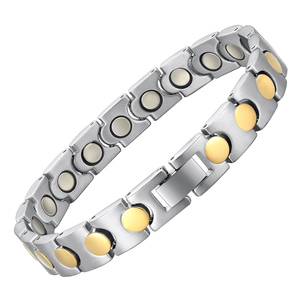 Unisex health care bio magnetic energy bracelet Titanium physical therapy jewelry bracelet