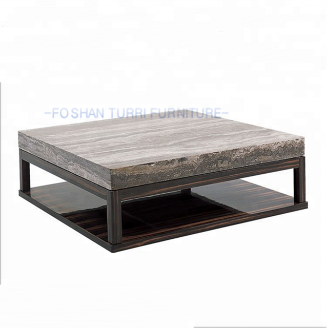 Italian Marble Top Wooden Coffee Table Design Marble Centre Table