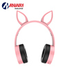 Children Headphones Earphone For Kids Bluetooth Earbuds Rabbit Ear Headphones Wireless Bluetooth Headsets with Mic LED Lights