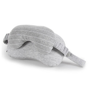 Travel Kit Include 2-in-1 Sleeping Pillow with Eye Mask in Travel Bag Eye Shade U-Shape Pillows Neck Support