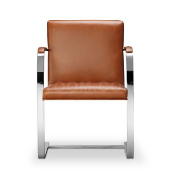 Replica Upholstered Real Leather Brno Chair By Ludwig Mies Van Der