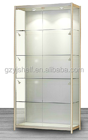 Lighting Glass Fronted Display Cabinets/five Layers Glass Display ...