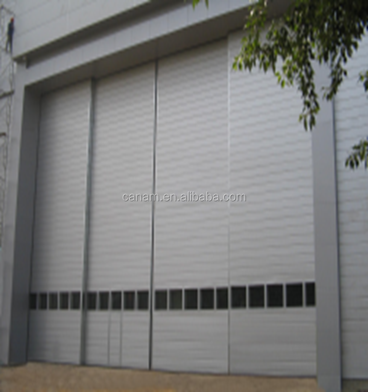 Good quality double glazed aluminium sectional industrialsliding door