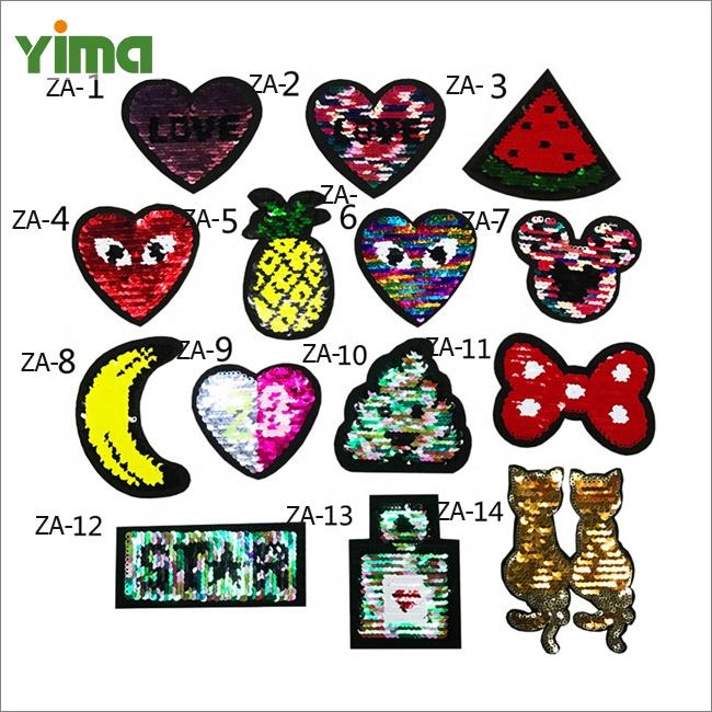 Applique Clothes Patch Stickers Reversible Sewing Panda Flip Sequin Cloth@A1