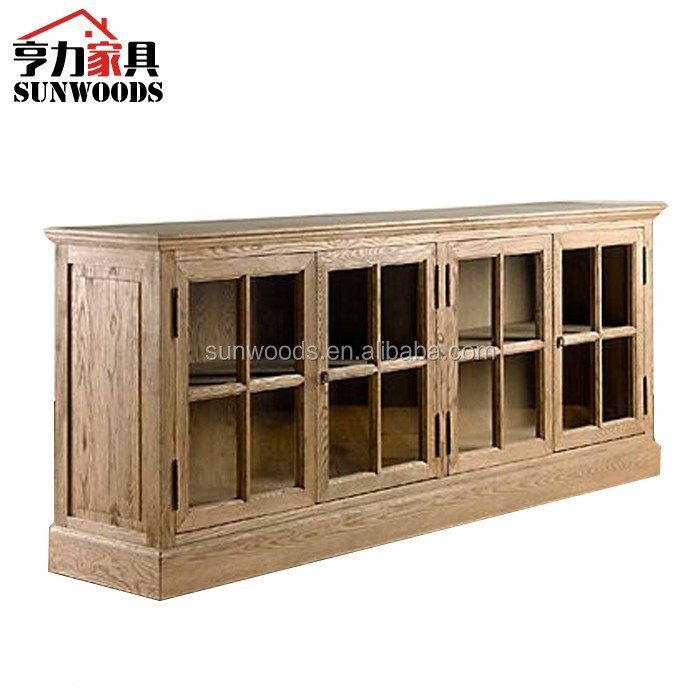 French Writing Desk Antique Wood Living Room TV Cabinet