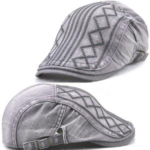 ee722f73cd4 Men Classic Denim Duckbill Peaked Ivy Cap Golf Driving Flat Cabbie Beret Hat