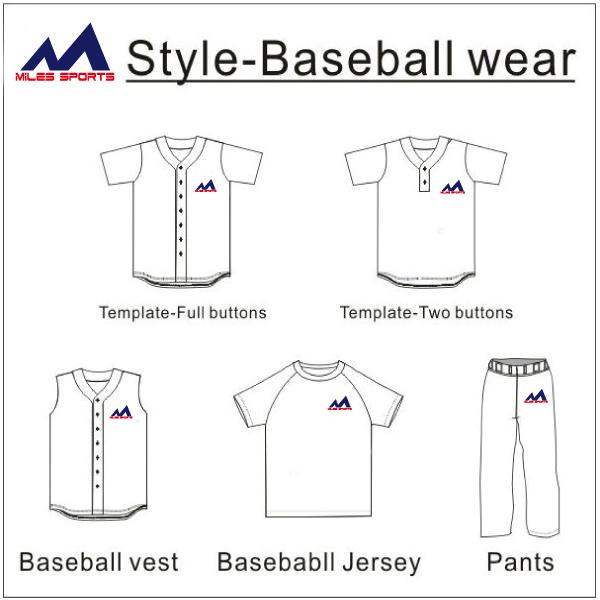 Wholesale Fashion Button Down Sublimated Custom Baseball Jersey ...