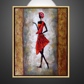 Hand Painted Hot Sex African Woman Images Modern Hotel Decor Canvas