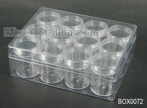 Plastique transparent perles conteneurs avec couvercle 12 for Maison container 50000