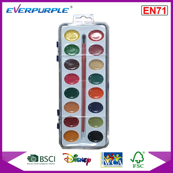 damp dry watercolor 16 colors watercolor paint set with brush buy