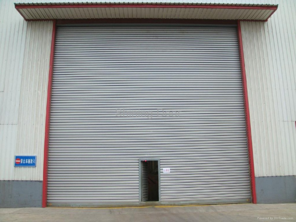security industrial sectional door with walker door