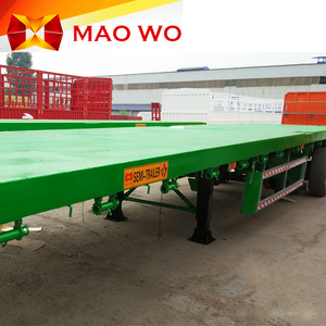 ODM factory solar light tower leaf spring 3 axle flatbed semi trailer in Africa