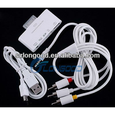 2013 New Design 5 in 1 Camera Connection kit Card Reader for iPad /for iPhone 4/4S