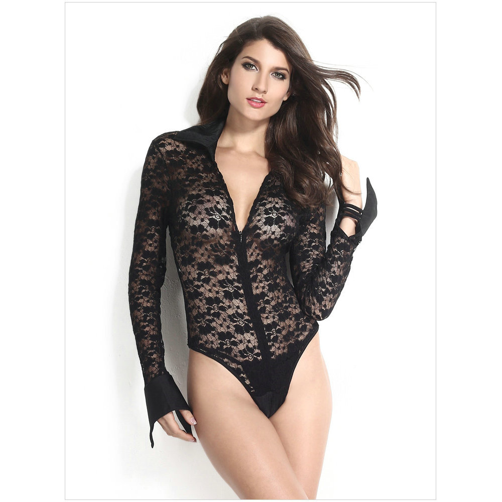 290e711144f Buy Women Sexy Black Lace Jumpsuit Ladies White Sheer Lace Long Sleeves  Bodysuit jumpsuit summer style LC3182 in Cheap Price on m.alibaba.com