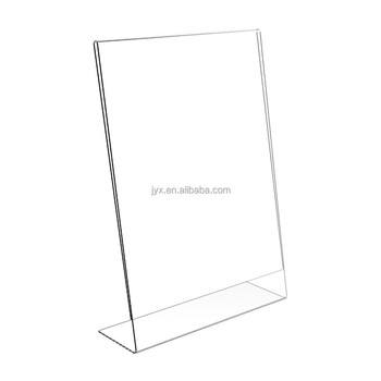Tabletop Clear Lshape Acrylic Sign Holder A For Restaurant Buy - Restaurant table top sign holders