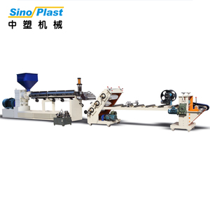 SINOPLAST Adjustable Sheet Width Classical Double Screw PS PP Sheet Plastic Extruder Machine