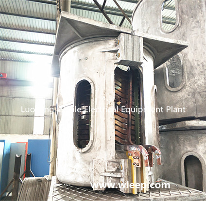 1T Aluminium Shell IF Induction Copper Melting Furnace