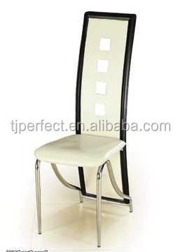 Caliente-Venta de cuero moderna silla de comedor cromo, barato ...