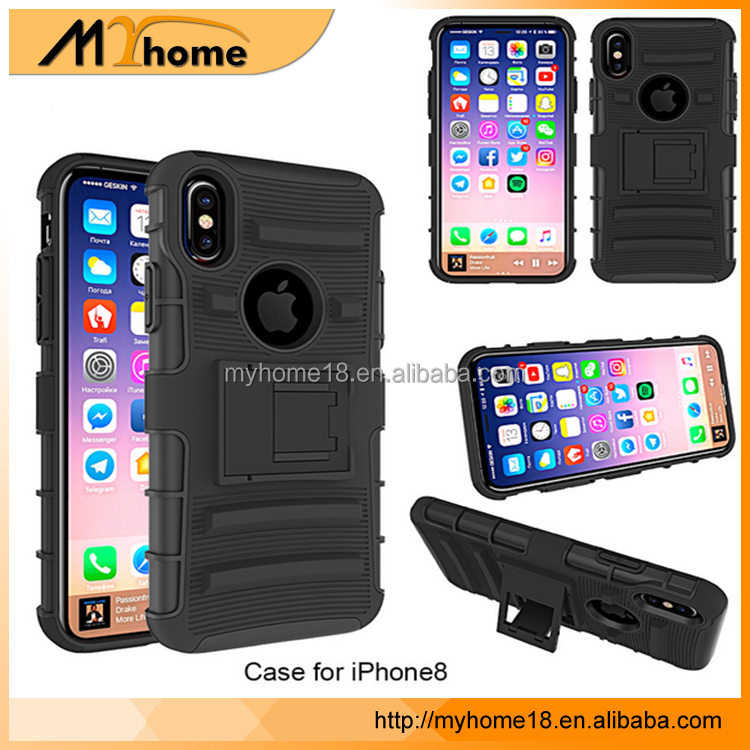 New arrival heavy duty shockproof with belt clip TPU + PC hybrid case for iPhone 8 with good quality, phone case for iphone 7
