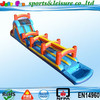 giant inflatable water slide for adults and kids with long slip slide n water pool