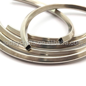 95x5x5mm Square Oval Brass hollow jewelry metal tube crimping