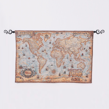 Hand Woven Silk World Map Wall Tapestry - Buy Hand Woven Silk Wall on