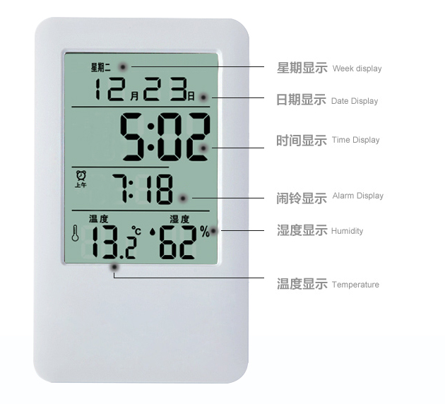 Multifunction Room digital thermometer with favourite price