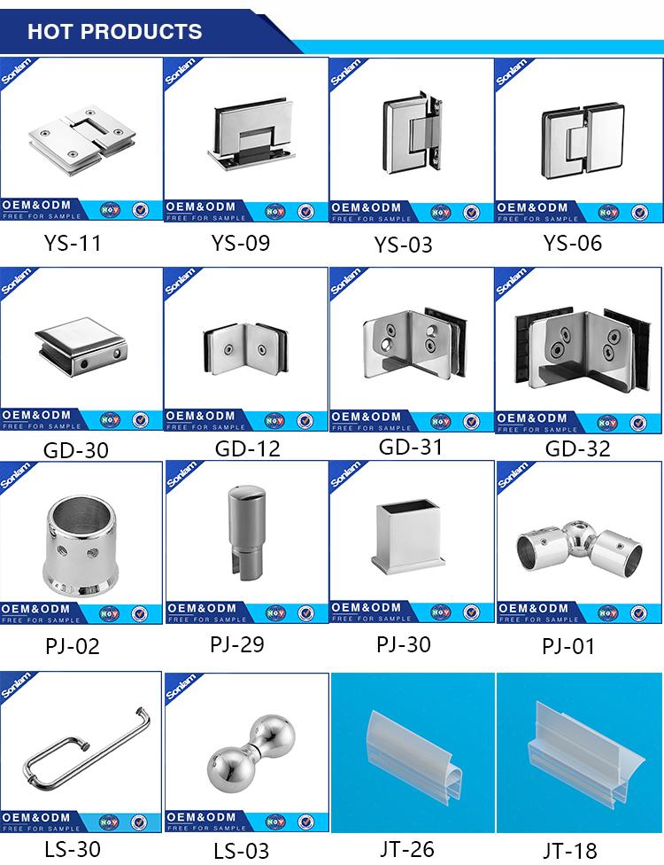 Best Price 135 Degree Stainless Steel Room Glass Clip Clamp Shower Door