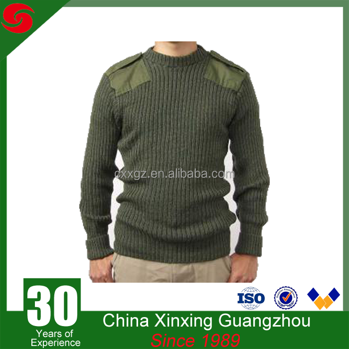 Military and army use In crew neck warm wool Pullover
