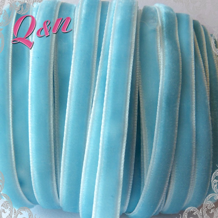 wholesale single sided velvet ribbon