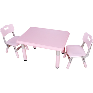 High quality plastic eco-friendly rectangle table and chairs for kindergarten kids