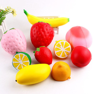 Amazon hot selling kids toys slow rising new trend fruit sets squishies