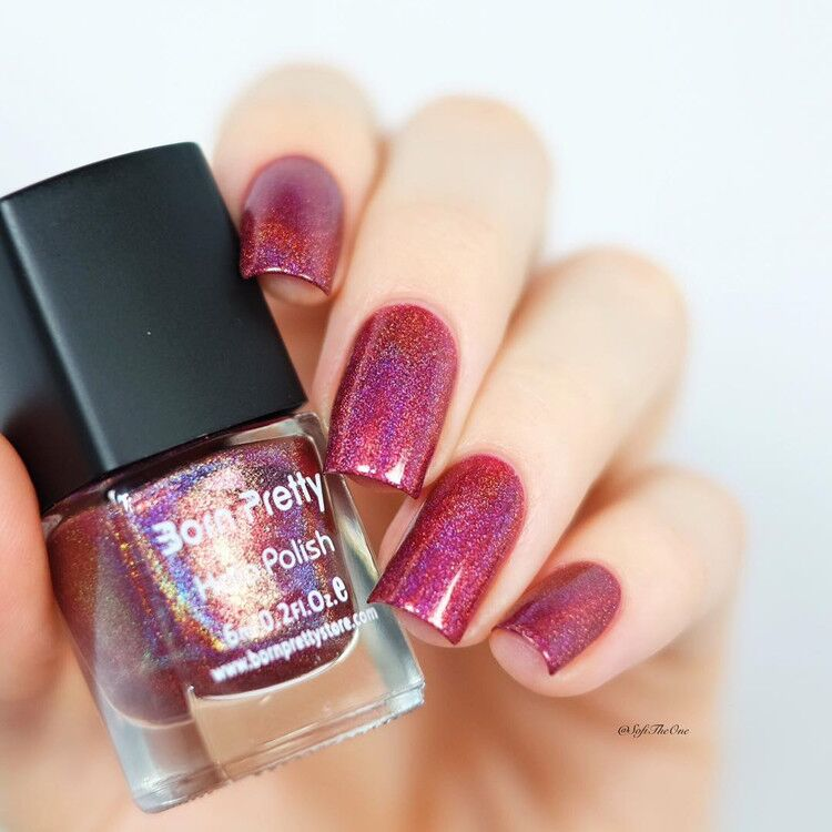 1 Box 6ml Born Pretty Pretty Color Shimmer Holographic Nail Glitter Polish Varnish Effect Nail Art