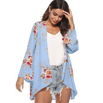 e99eb861dd943 2018 Nuevo De Gasa Floral Damas Cardigan Para Mujer - Buy Cardigan ...