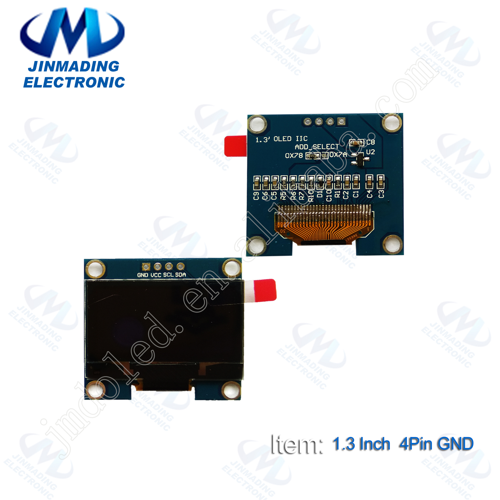 """HQ 0.96/"""" 128*64 OLED Graphic Display Module SPI LCD Color White SSD1306"""
