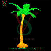 New product artificial led coconut palm tree light holiday decoration, outdoor light led palm tree lights