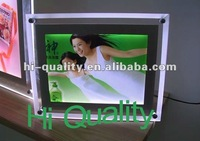 China supplier acrylic LED picture frames with screws, led lighted acrylic photo frames