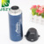 Good quality stainless steel high vacuum sport bottle, blue teacup