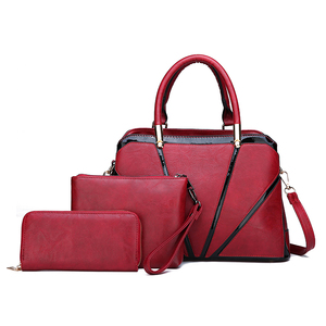 New designer China elegant PU leather bag sets women tote bags 3 in 1 women handbags set for lady